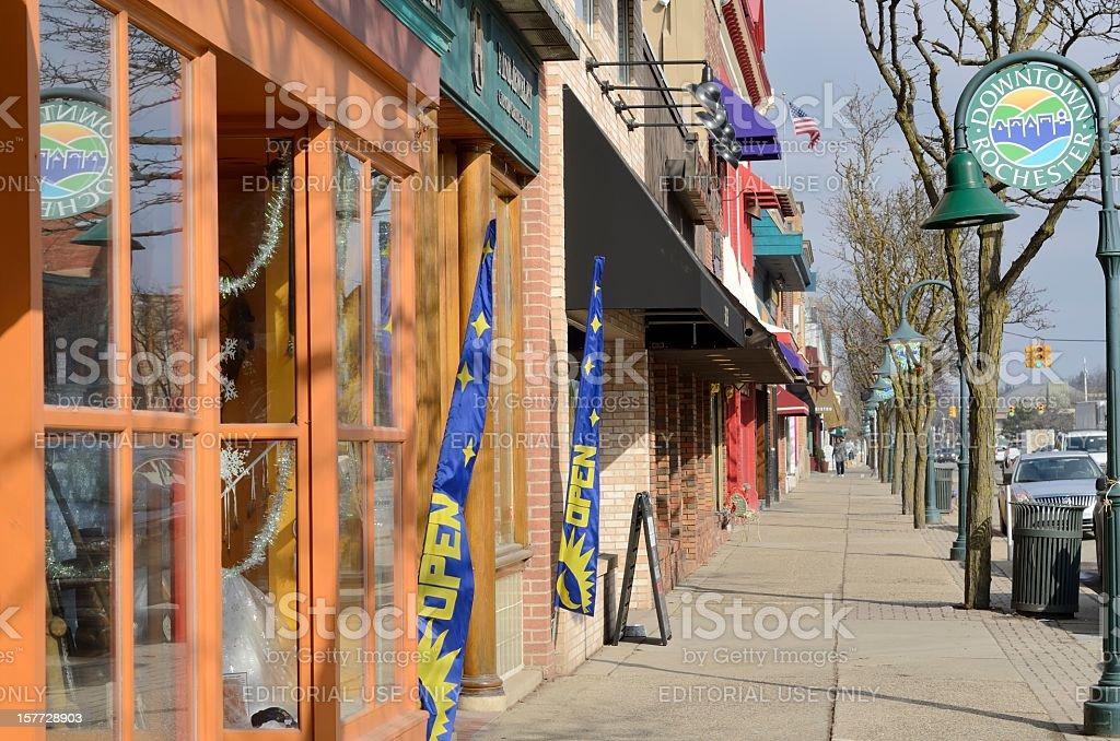 Main Street, Rochester, Michigan stock photo