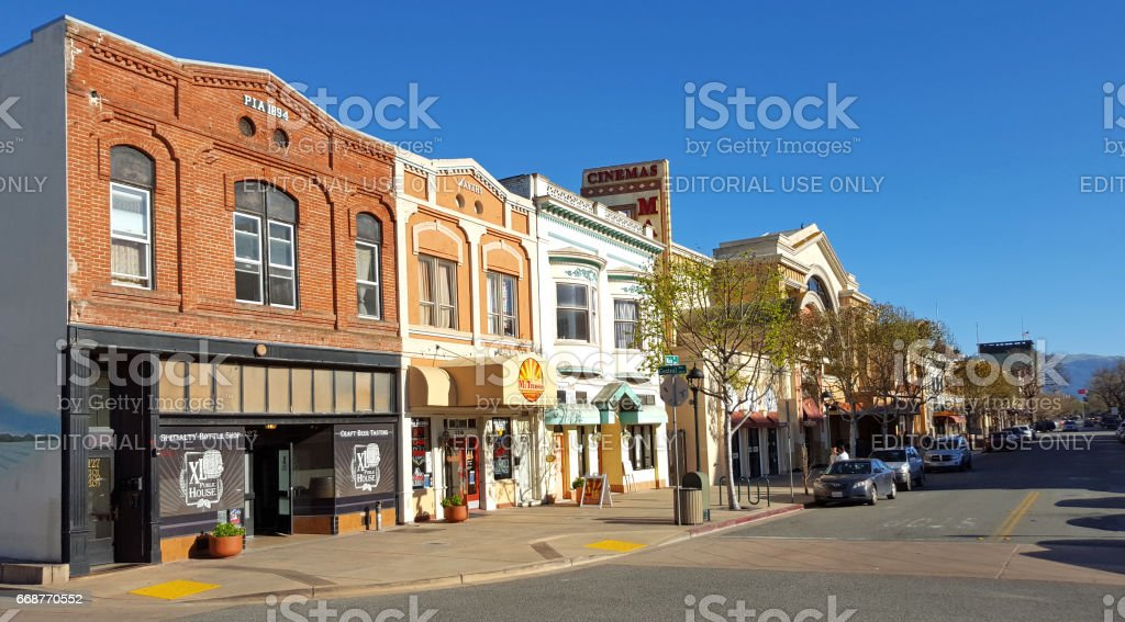Main Street Salinas California stock photo