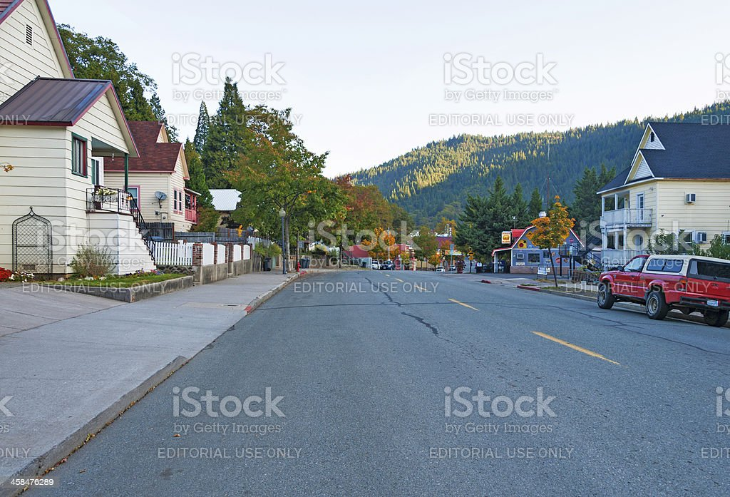 Main Street Small Community royalty-free stock photo