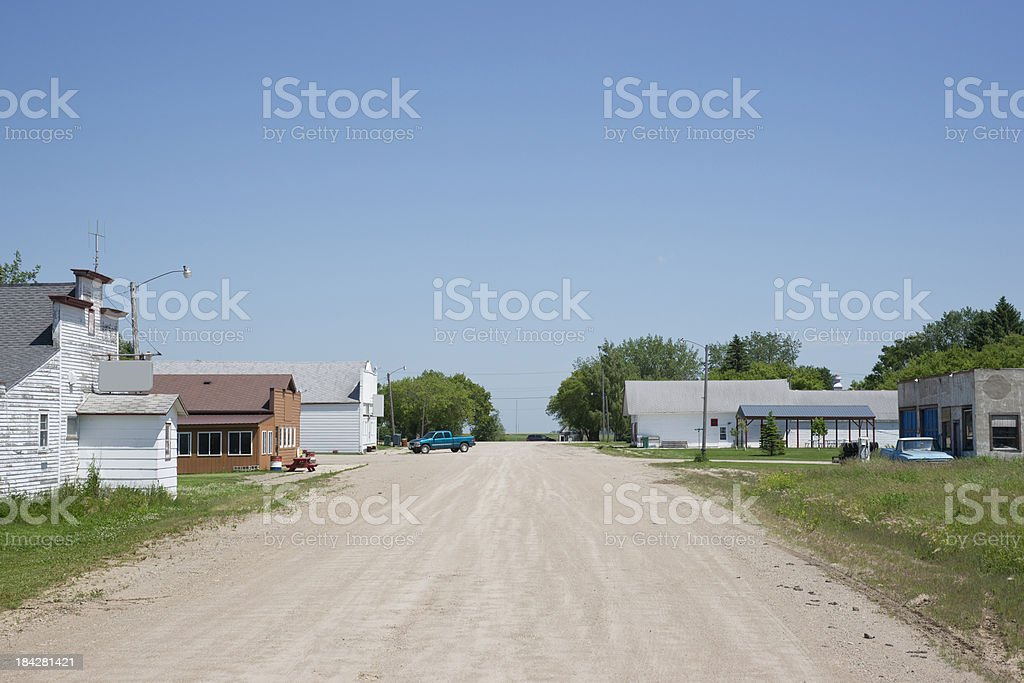 Main Street Small Town royalty-free stock photo
