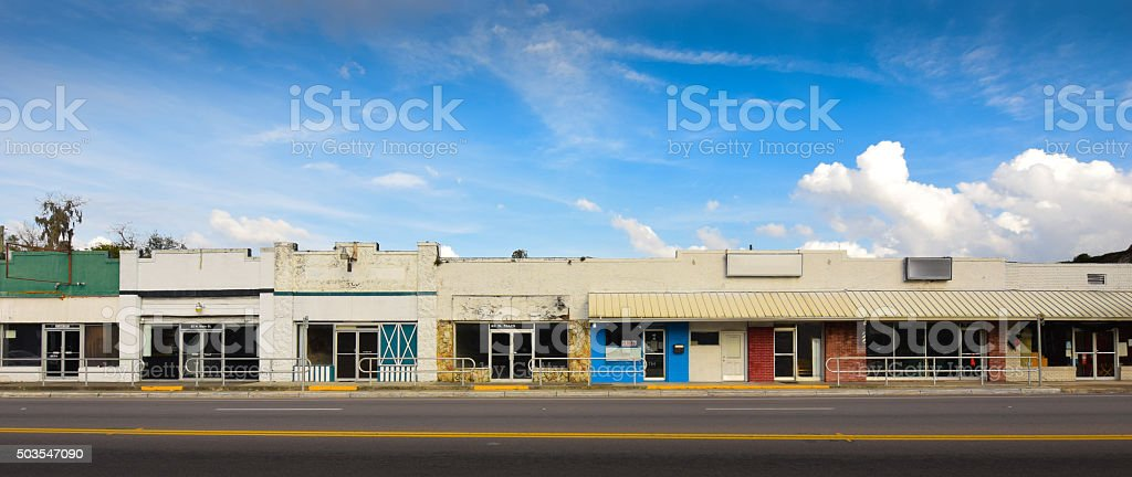 Main Street Stores in Small Town America stock photo