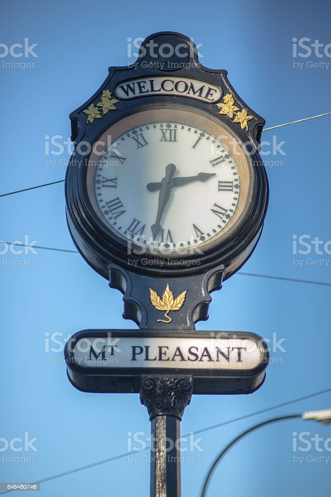 Main Street Vancouver BC Mount Pleasant stock photo