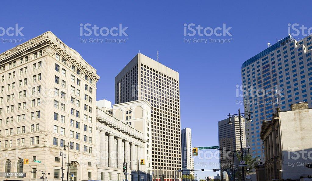 Main Street, Winnipeg royalty-free stock photo