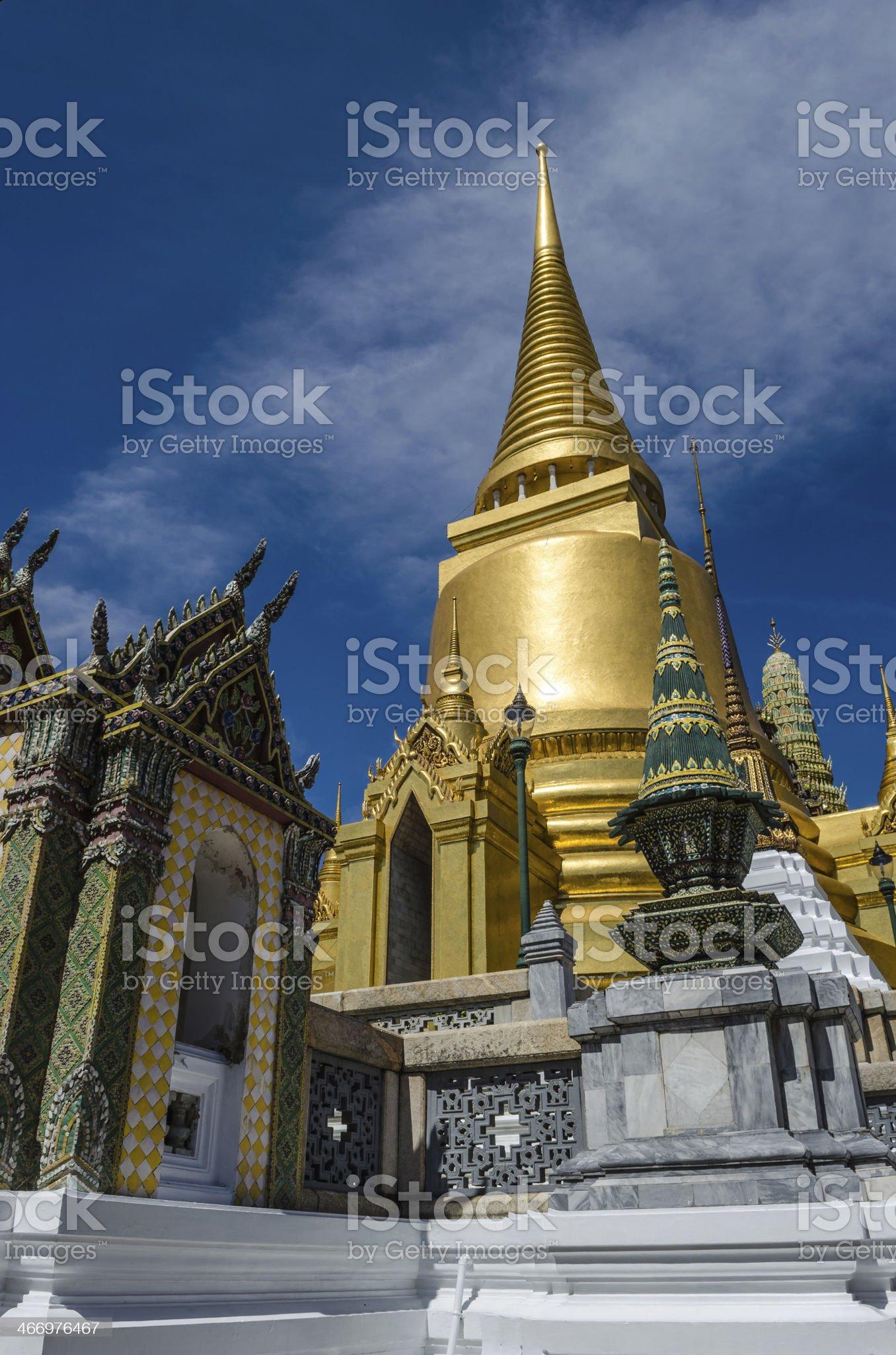 Main Stupa in Wat Phra Kaeo royalty-free stock photo