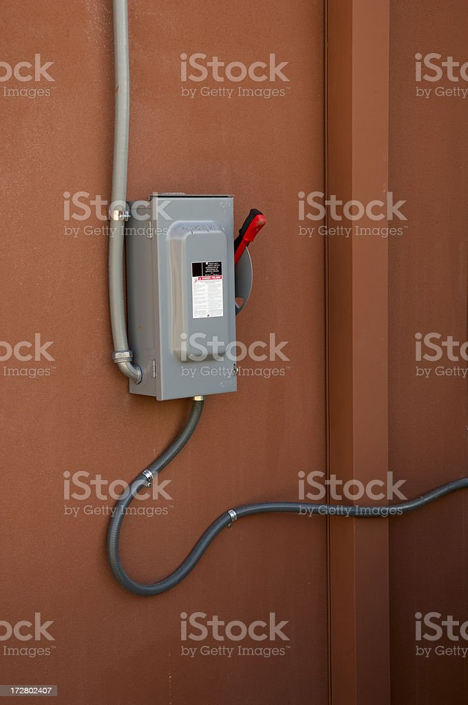 Main Switch Box stock photo