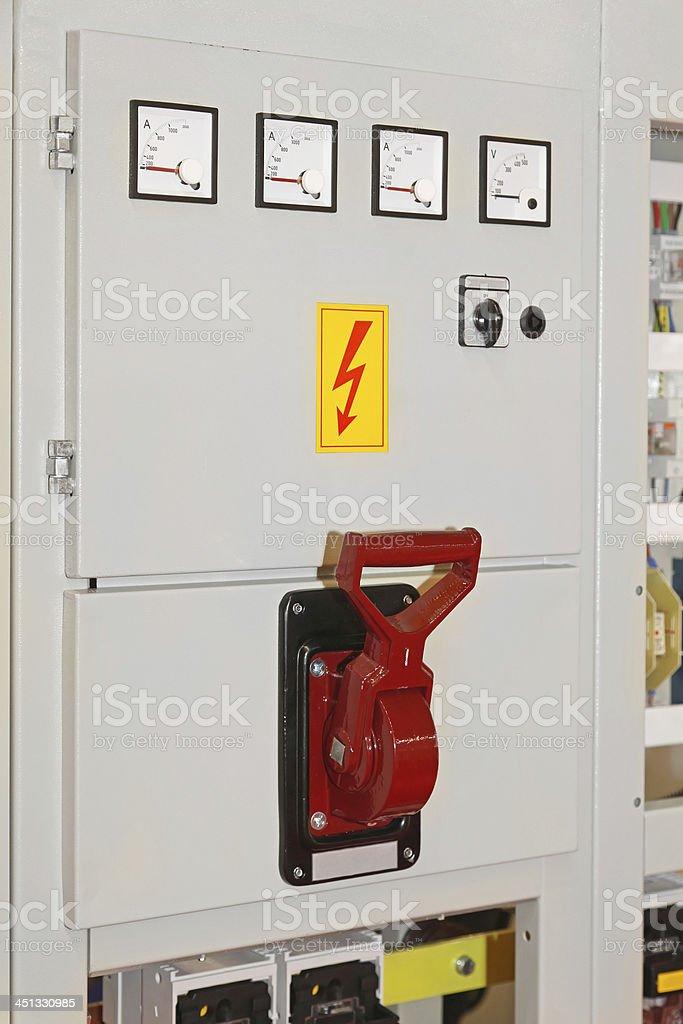 Main switch royalty-free stock photo