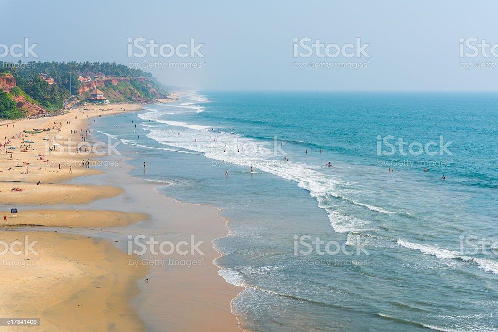 Main Varkala Beach stock photo