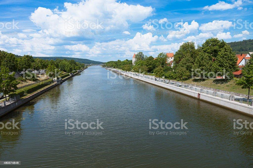 Main-Donau-Kanal at Berching, Germany stock photo