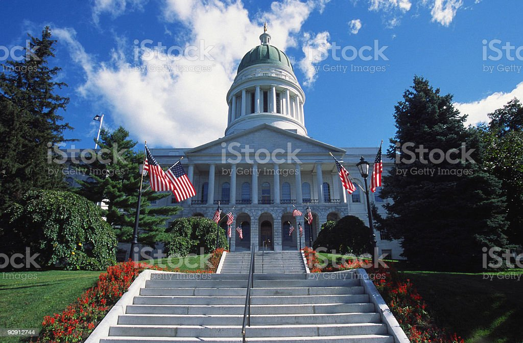 Maine Capitol stock photo