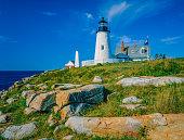 Maine coast with Pemaquid Point Lighthouse