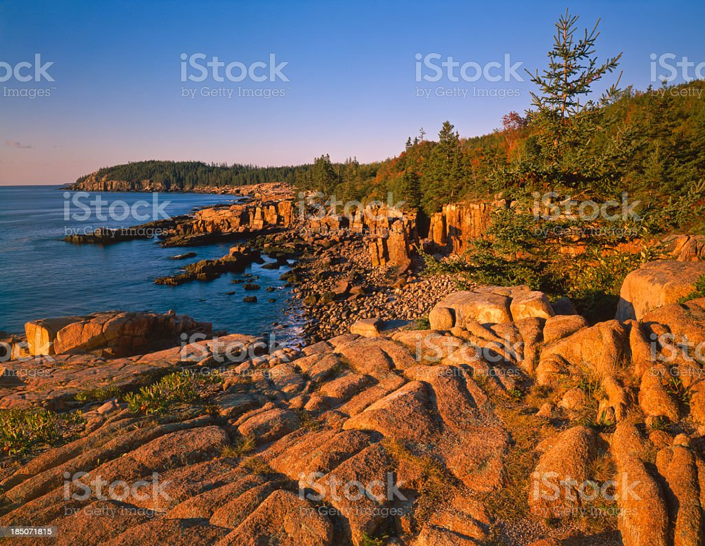 Maine Coastline- (P) stock photo