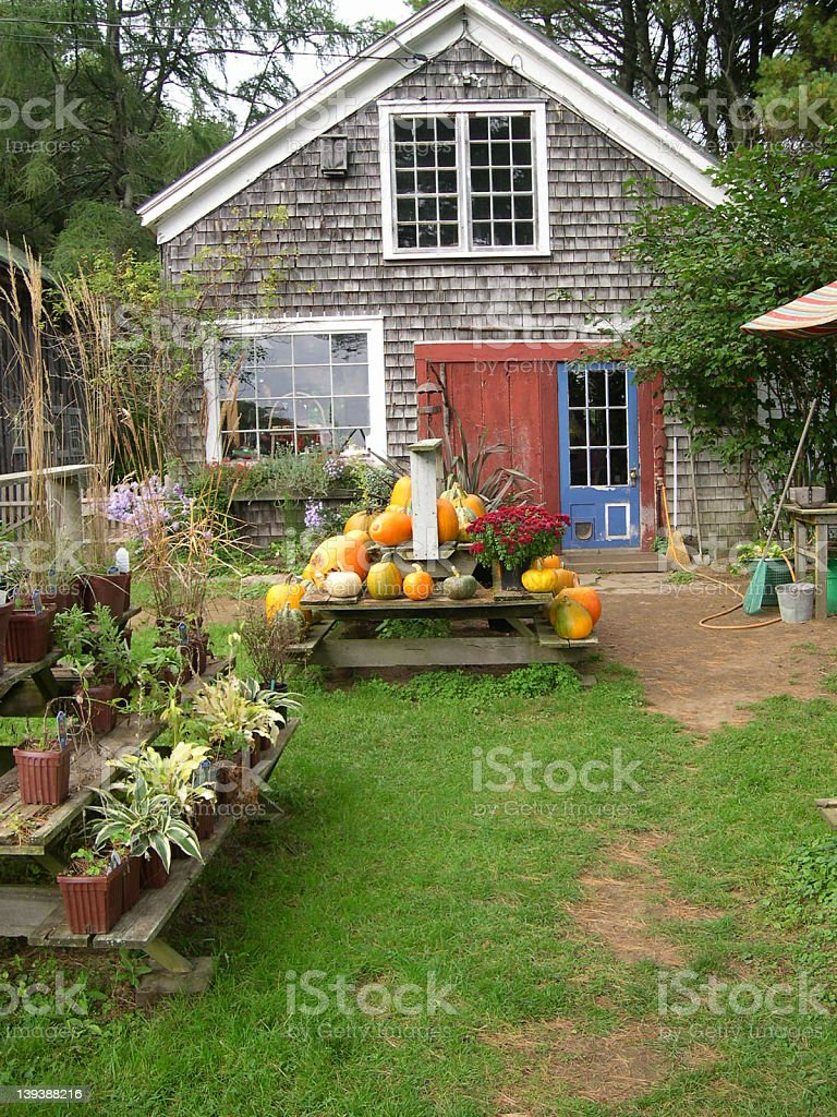 Maine Country Farmstand stock photo