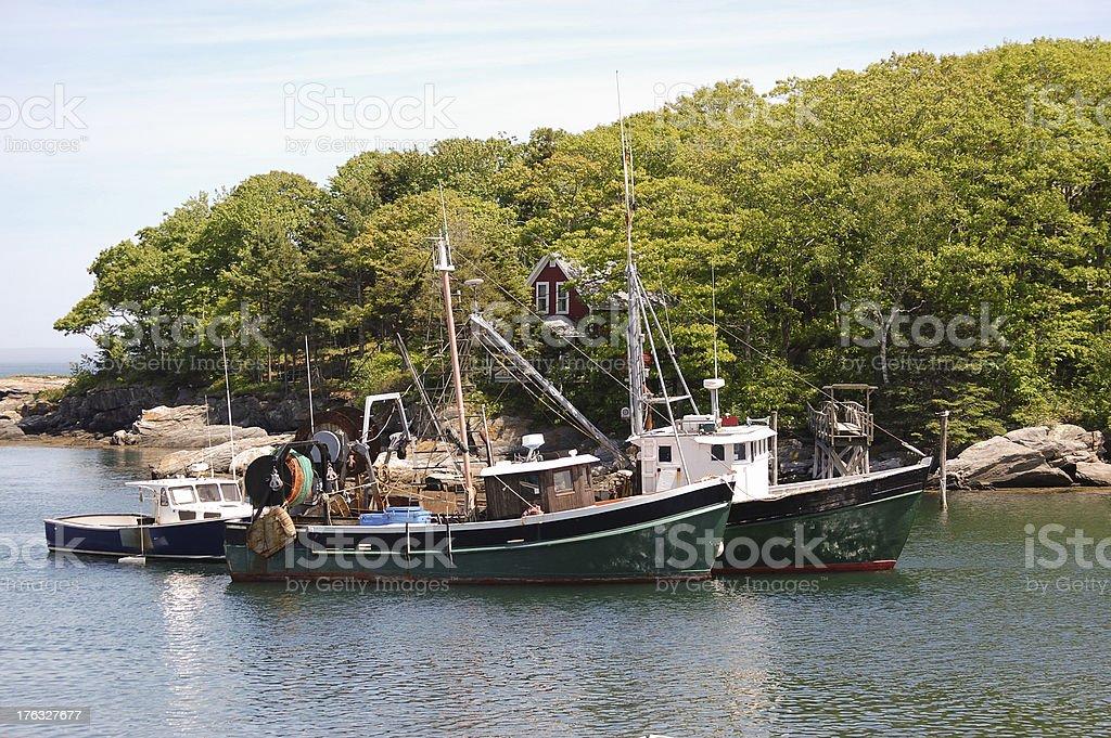 Maine Fishing Trawlers royalty-free stock photo