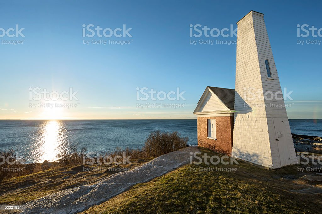 Maine - Fog Bell House stock photo