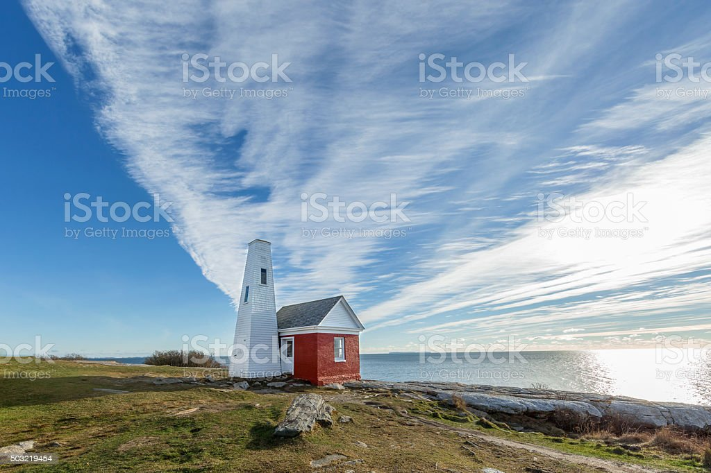 Maine - Fog Bell House stock photo