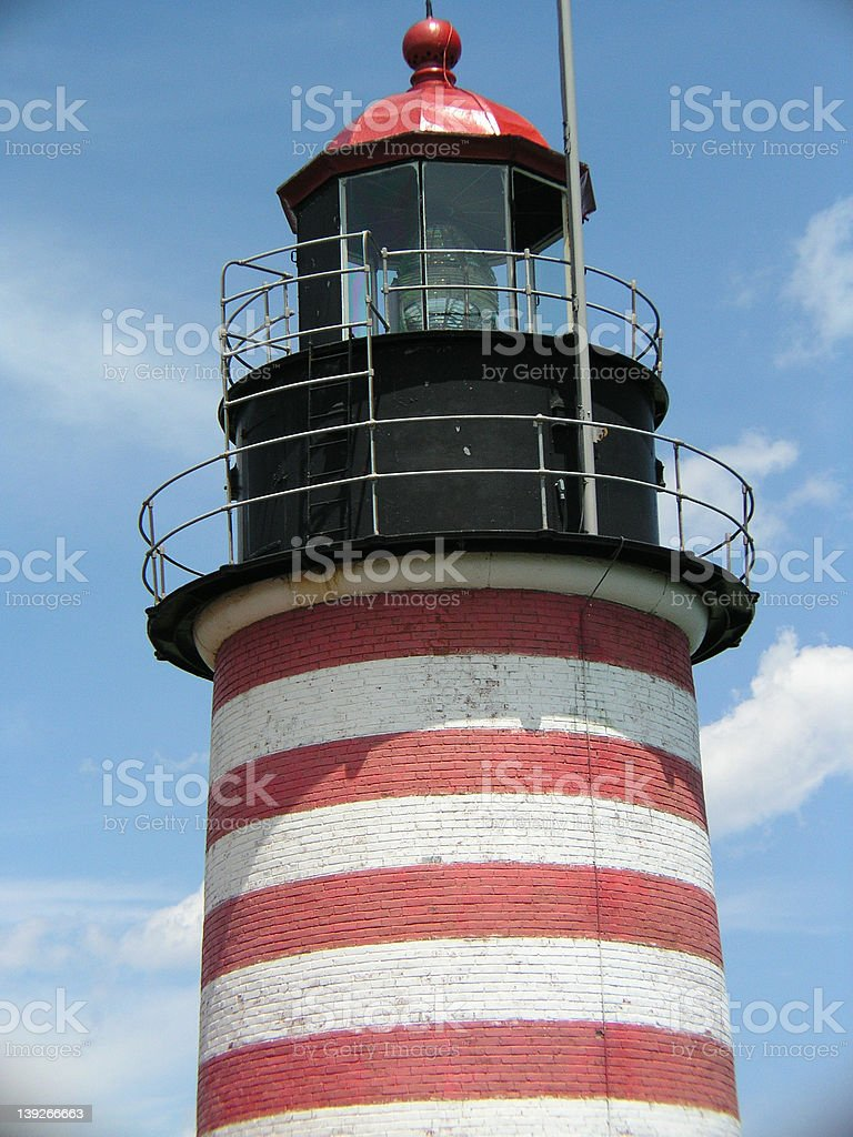 Maine Light House royalty-free stock photo