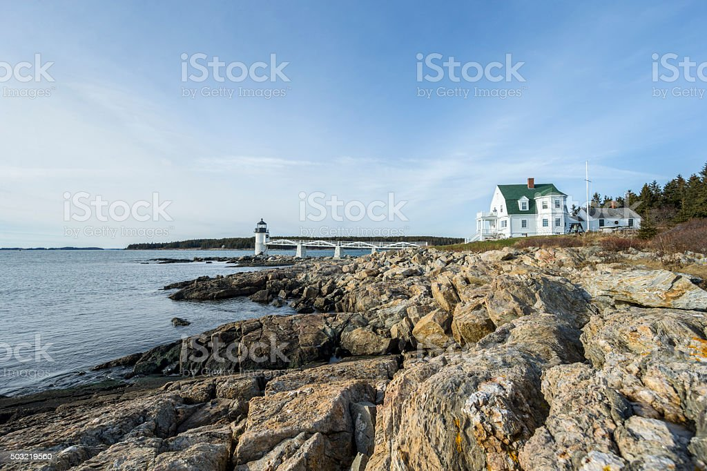 Maine - Lighthouse stock photo