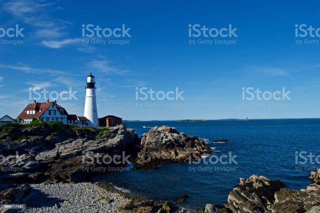 Maine Lighthouse stock photo