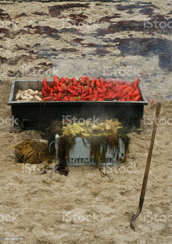 Maine Lobster Bake stock photo