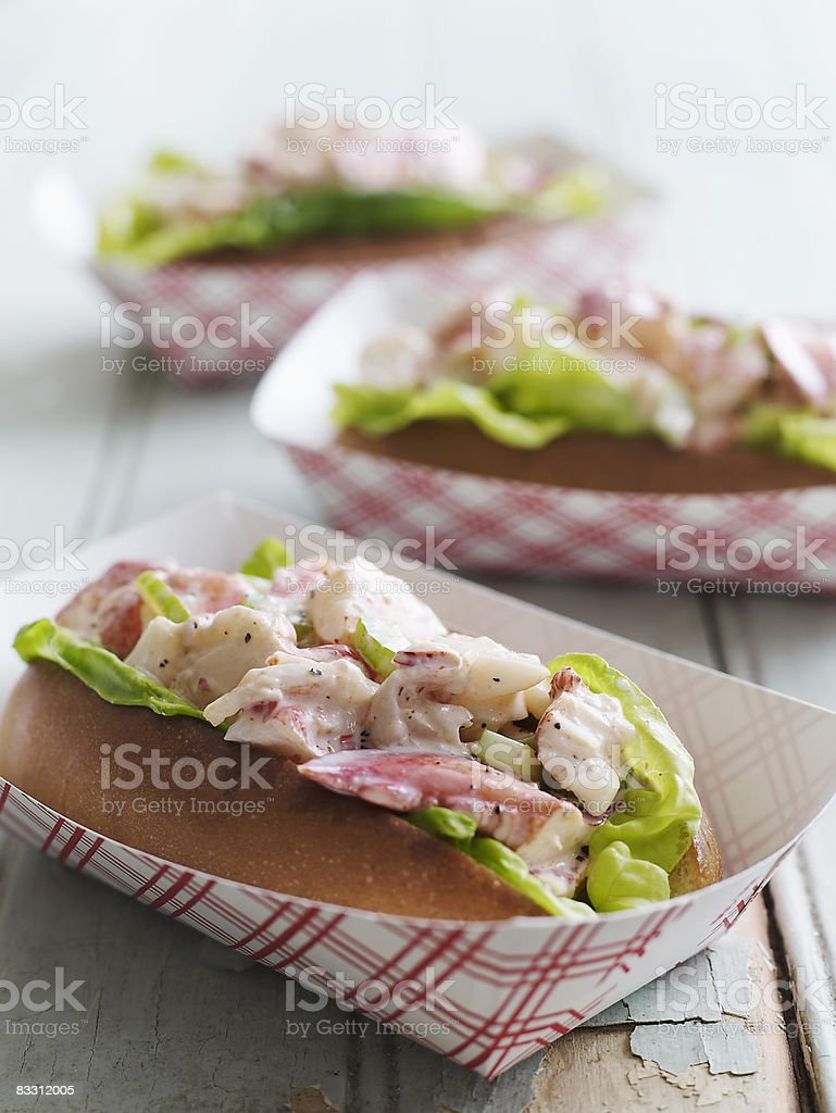 Maine Lobster Roll stock photo