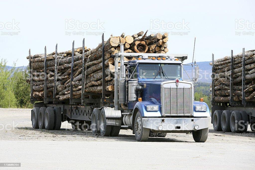 Maine Logging truck stock photo