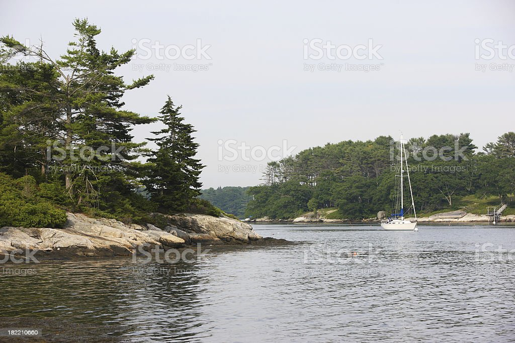 Maine rivers, harbors, coast royalty-free stock photo