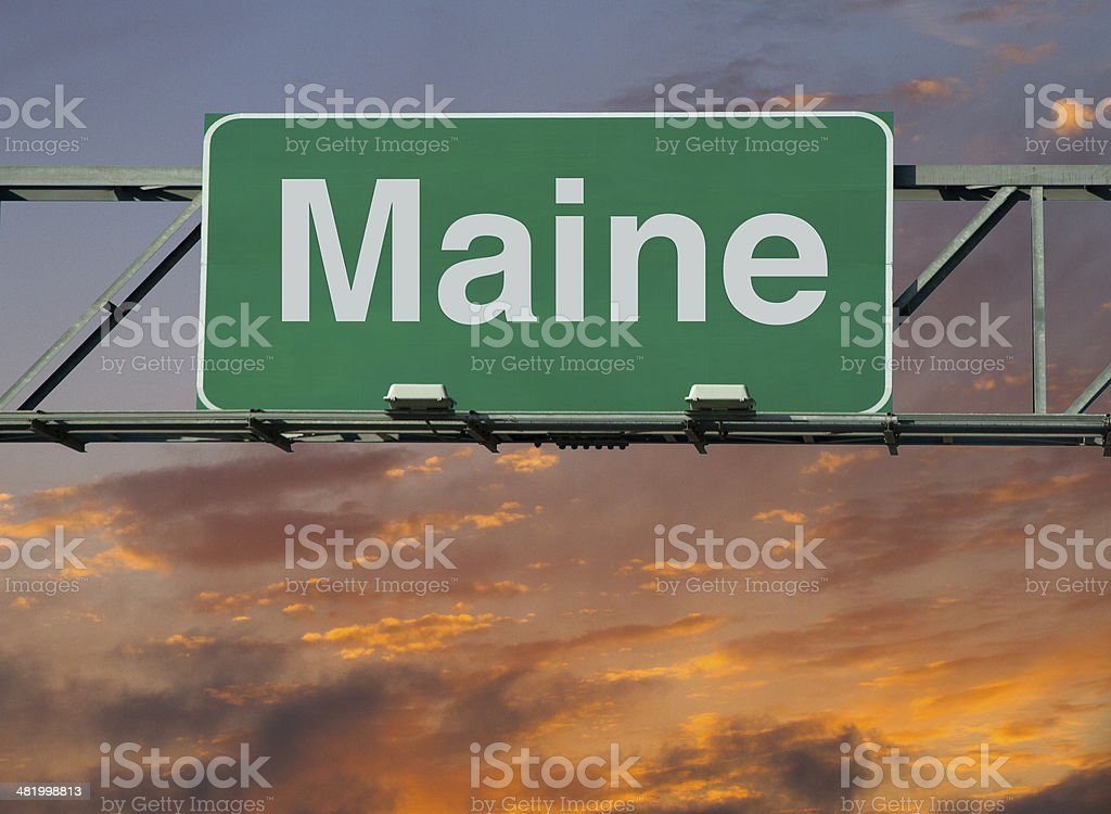 Maine Sign stock photo