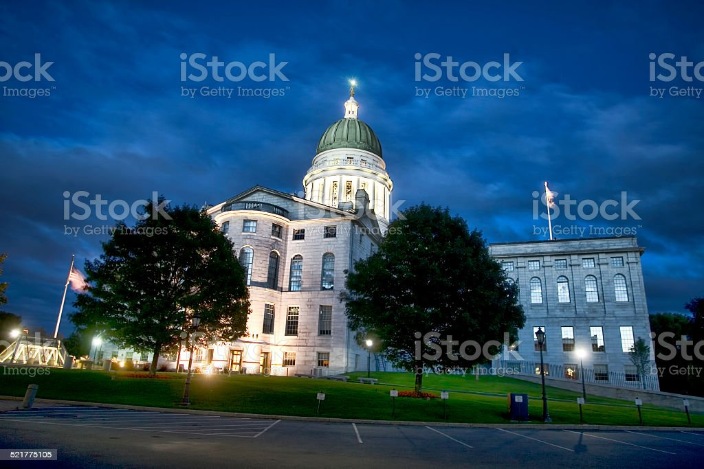 Maine State Capitol stock photo