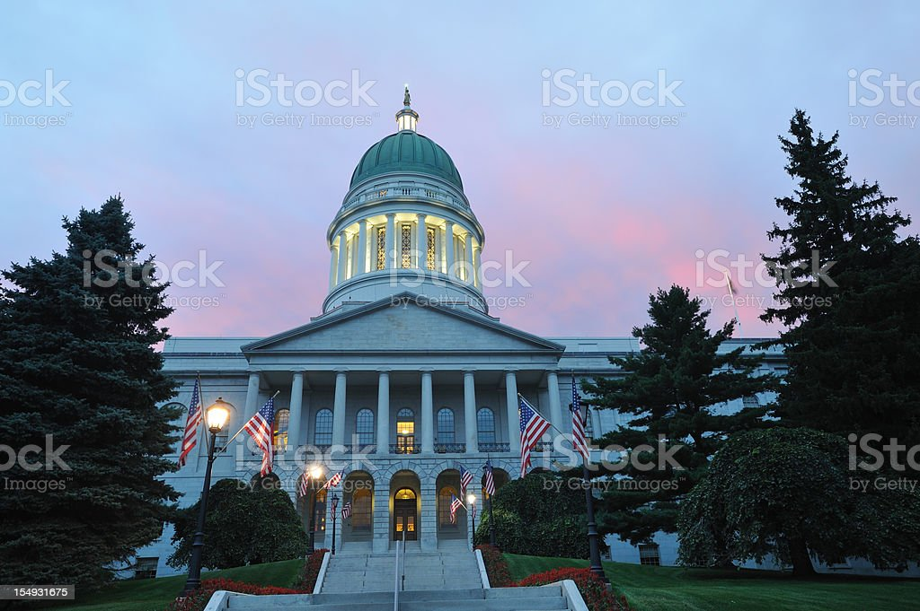 Maine State House stock photo