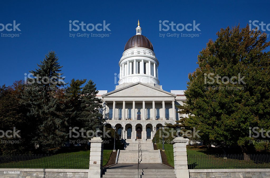 Maine Statehouse Capitol Building stock photo
