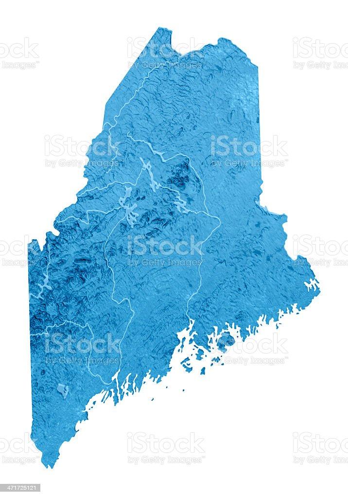 Maine Topographic Map Isolated stock photo