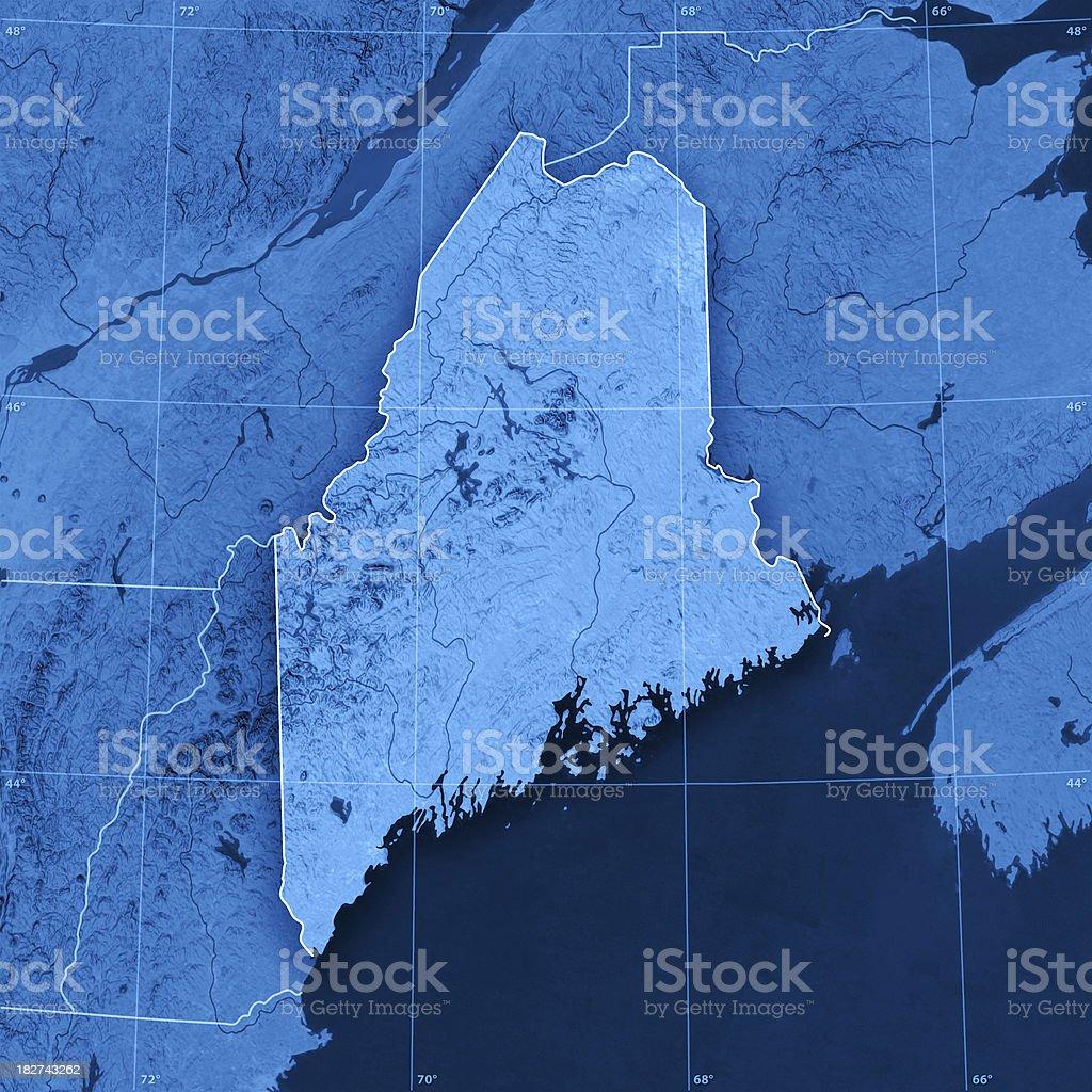 Maine Topographic Map stock photo