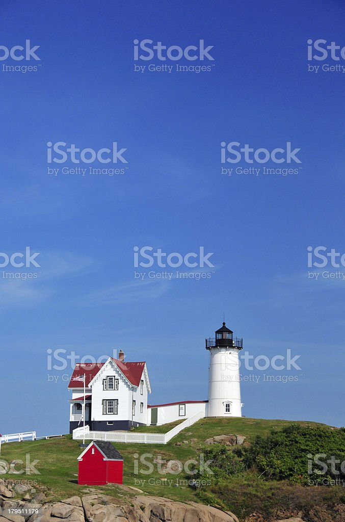 Maine, USA: Cape Neddick Lighthouse royalty-free stock photo