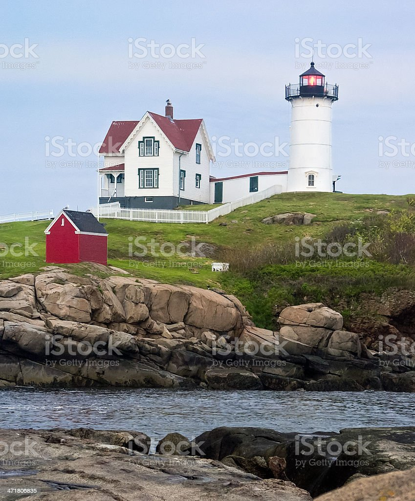 Maine's Nubble LIght royalty-free stock photo