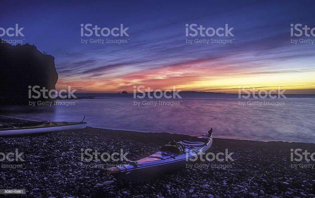 Mainland Kayak Dawn stock photo