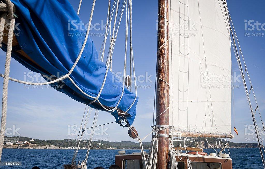 Mainsail stock photo