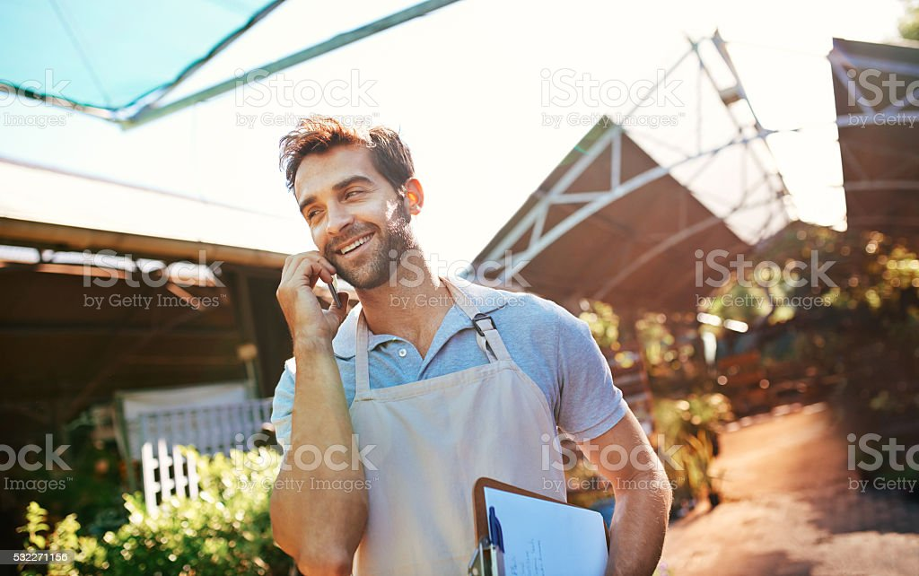 Maintaining a good relationship with his suppliers stock photo