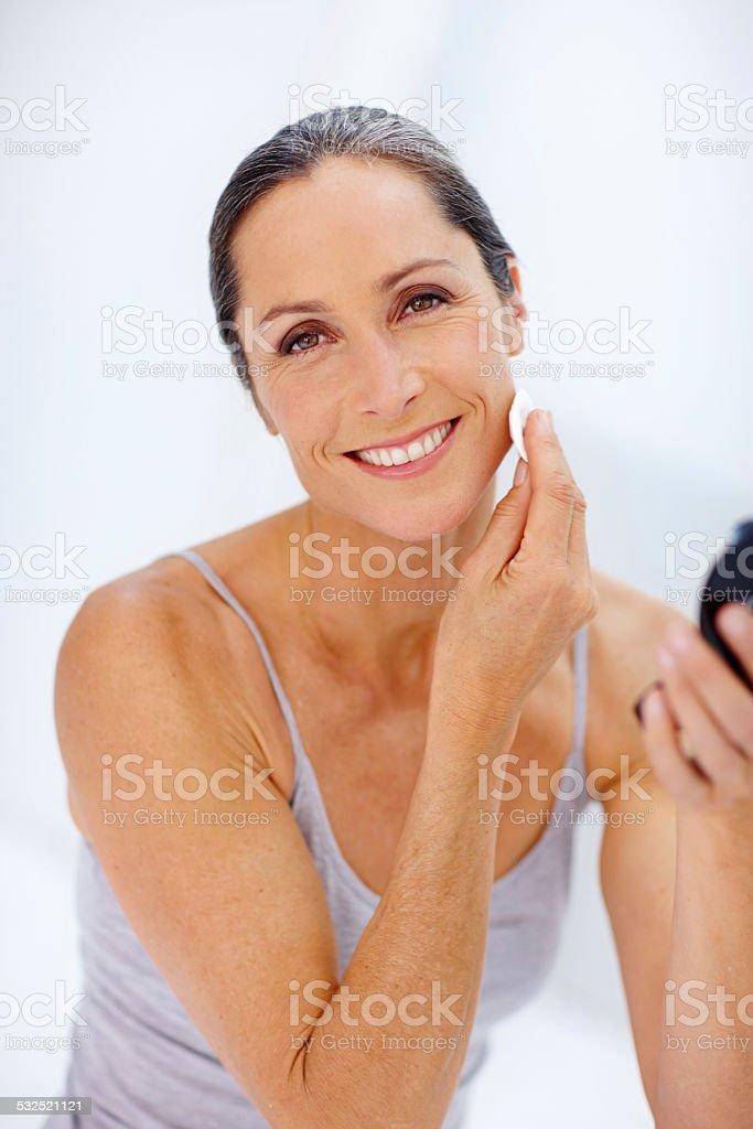 Maintaining good beauty habits stock photo