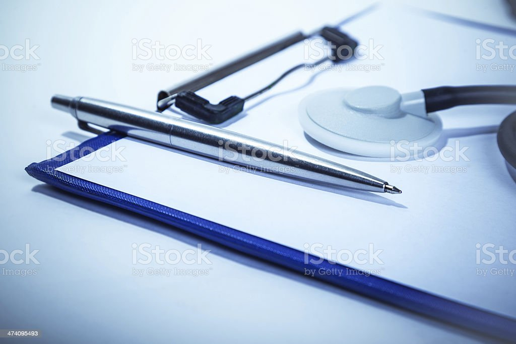 maintaining medical records stock photo