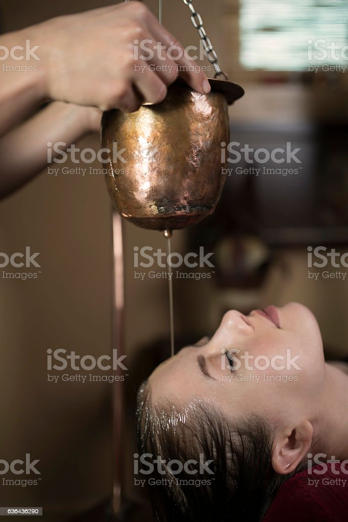 Maintaining The Beauty Of My Face stock photo