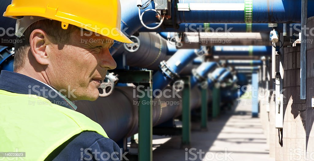 Maintenance engineer stock photo