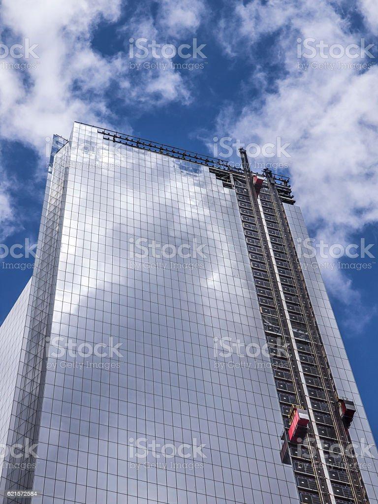 maintenance of skyscraper stock photo