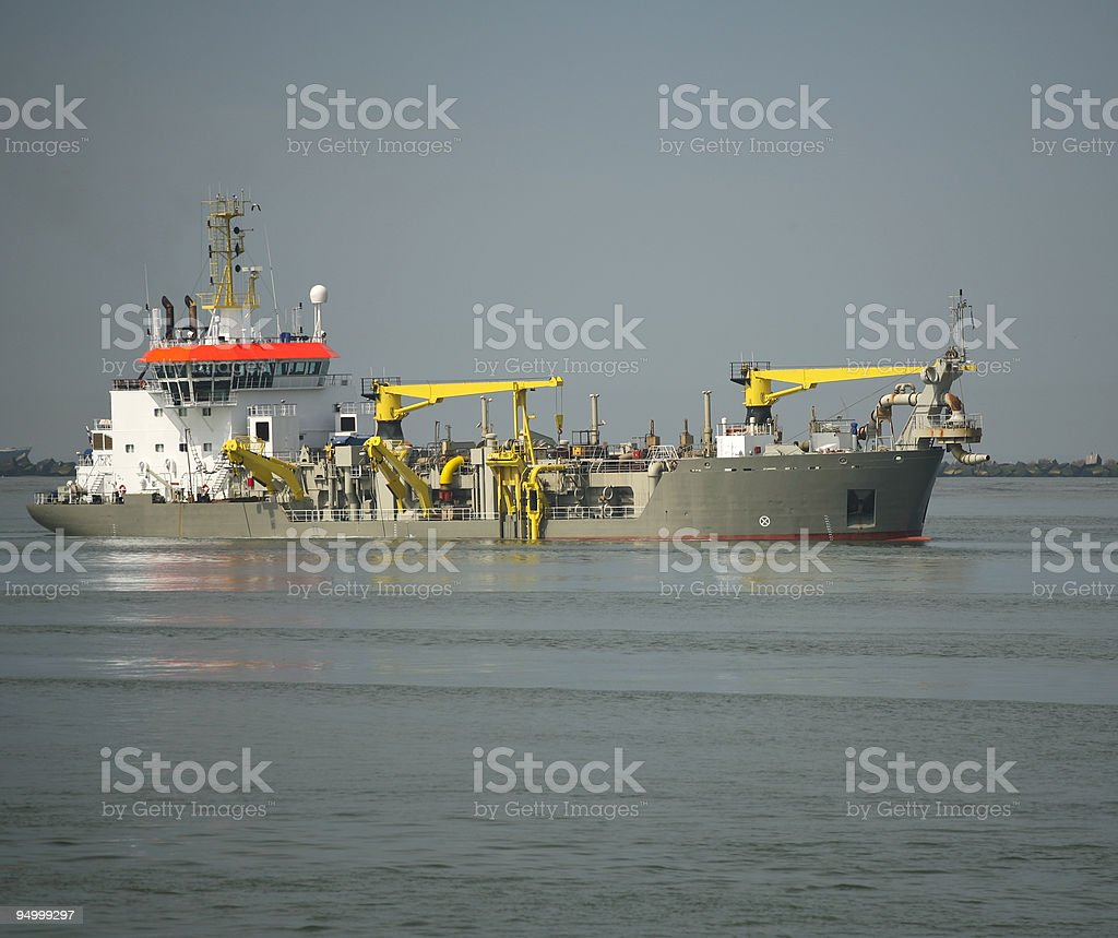 Maintenance ship stock photo