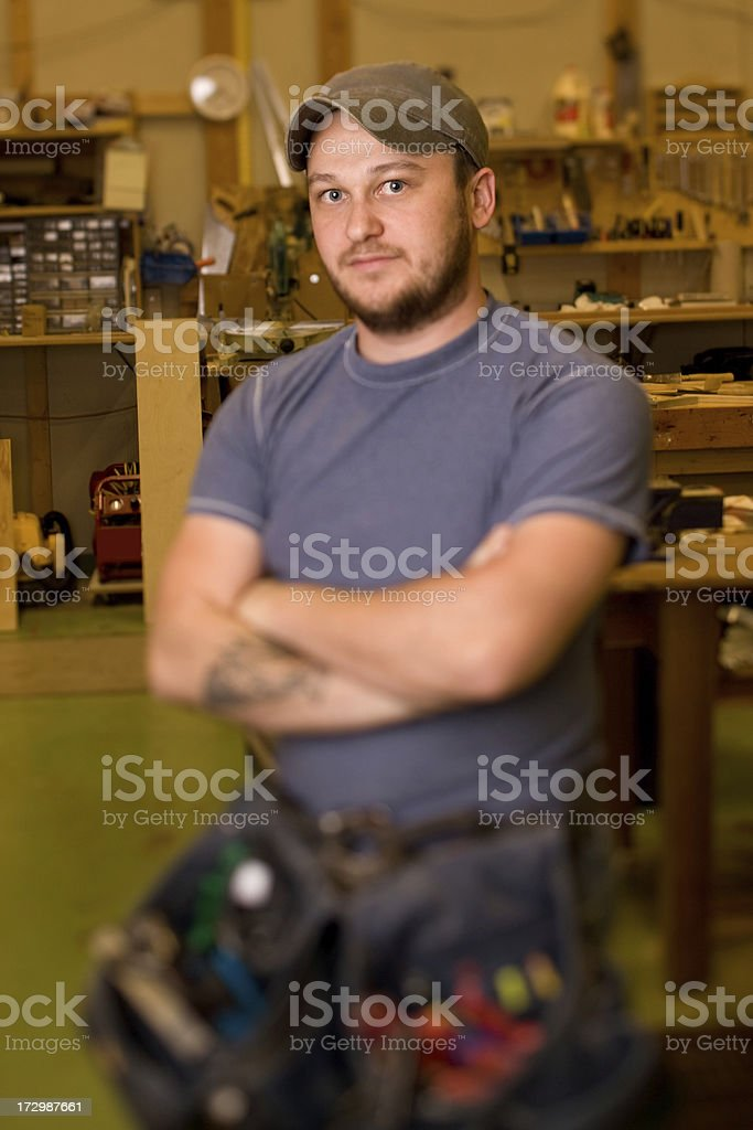 Maintenance worker royalty-free stock photo