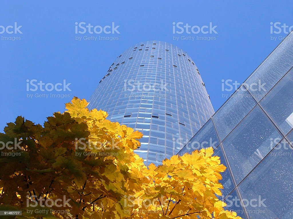 Maintower in Frankfurt am Main stock photo
