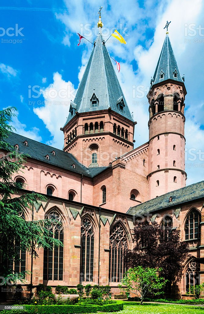 Mainz Cathedral Courtyard stock photo
