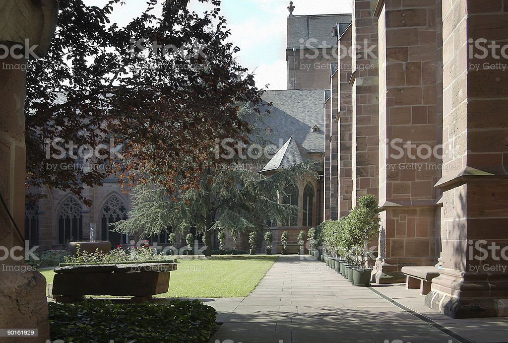 Mainz Cathedral Germany stock photo