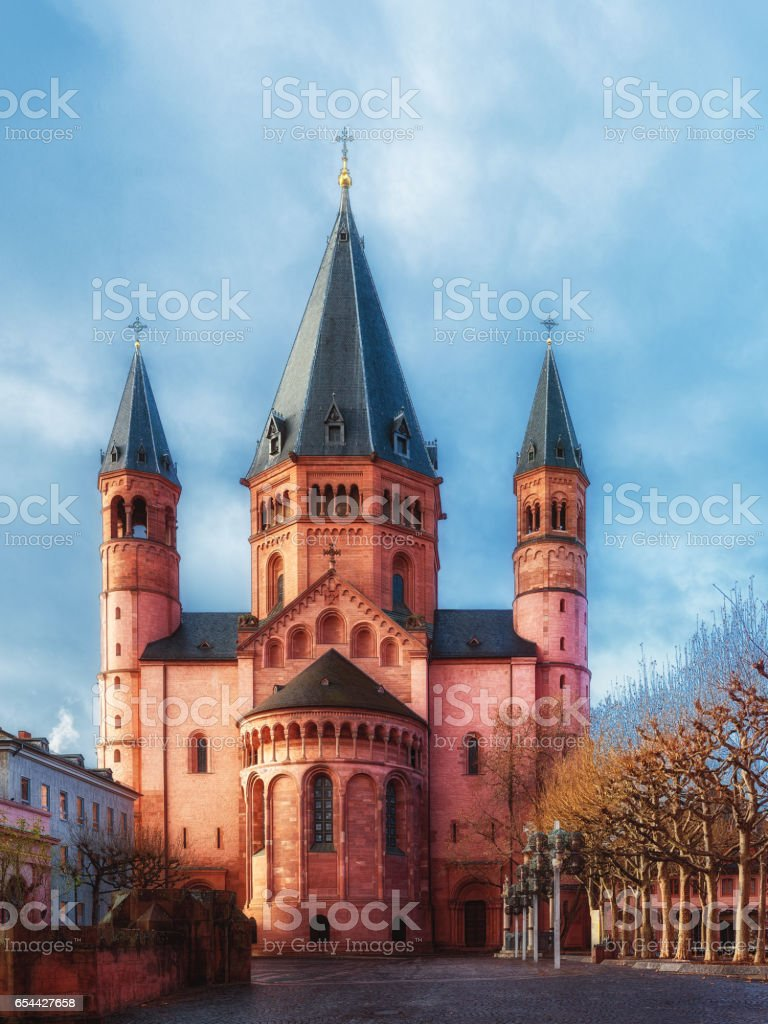 Mainz cathedral. Dom zu Mainz. stock photo
