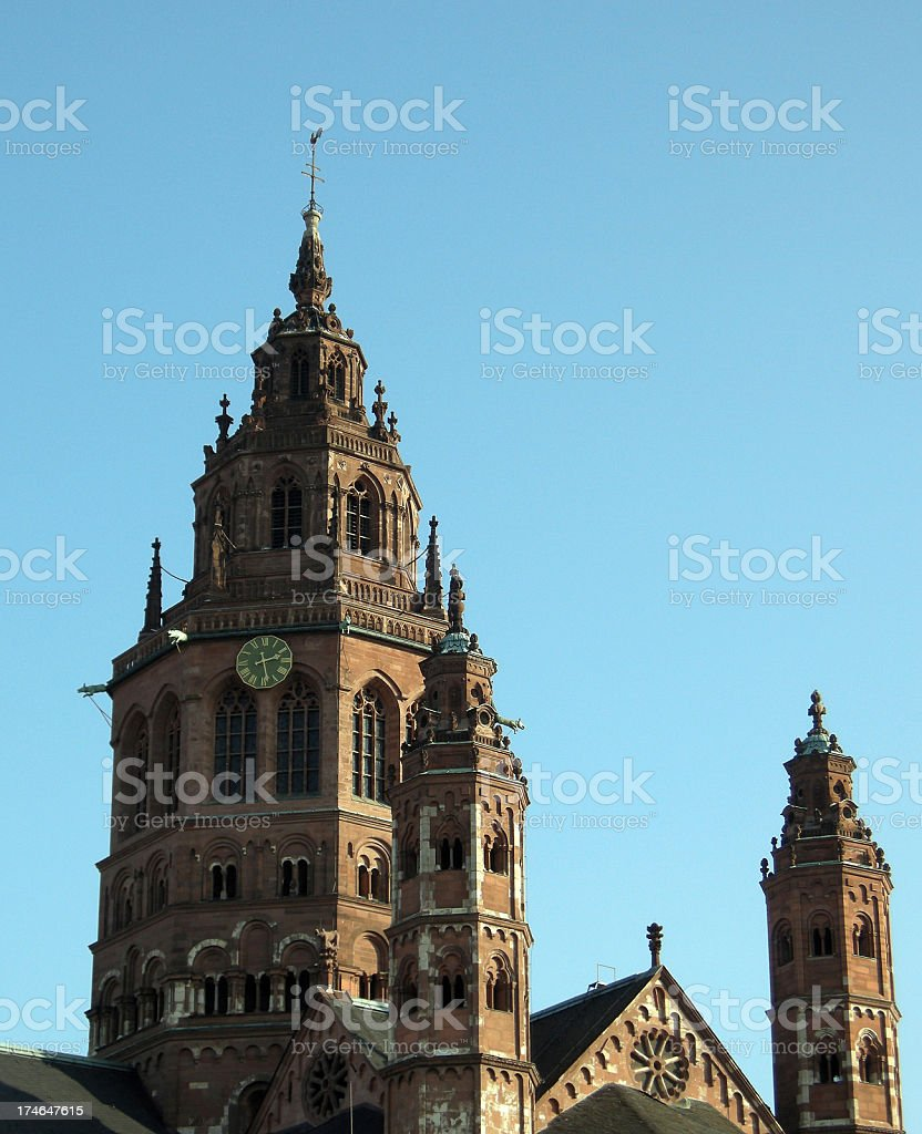 Mainzer Dom stock photo