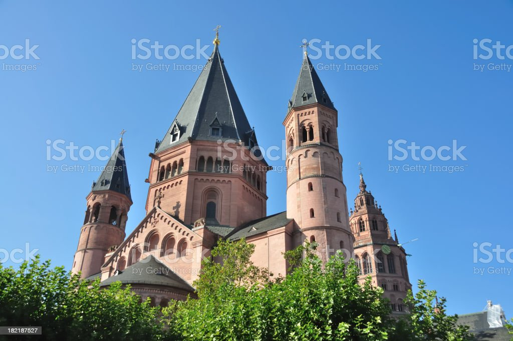 Mainz Cathedral royalty-free stock photo